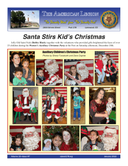 Current Newsletter - American Legion The Friendly Post 178