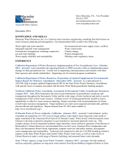 121714 full Steve resume - Macaulay Water Resources Inc.