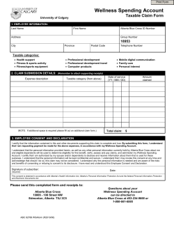 Wellness Spending Account Claim Form