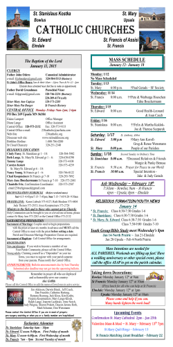 the Bulletin - 238 Catholic Home Page
