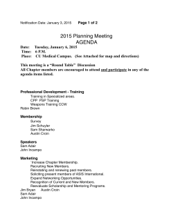 2015 Meeting Agenda - ASIS