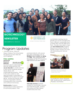 USF PSM in Biotechnology Newsletter