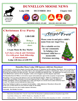 MOOSE NEWSLETTER 12 DEC 2014