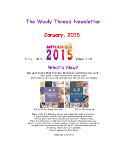 The Wooly Thread Newsletter January, 2015
