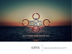 Download IORTA Sponsorship Brochure 2015 [PDF