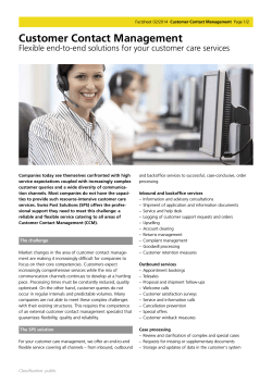 Customer Contact Management (PDF)