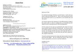 Church Bulletin - the Elim Pentecostal Church in Burton upon Trent