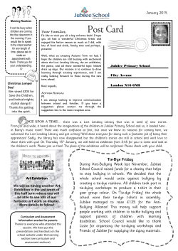 jps newsletter january 2015