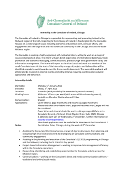 Internship Opportunity at the Consulate General of Ireland Chicago
