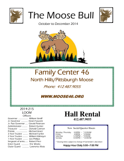 newsletter - Moose Lodge #46