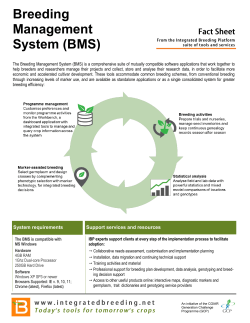Breeding Management System (BMS)