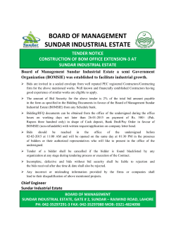 BOARD OF MANAGEMENT SUNDAR INDUSTRIAL ESTATE