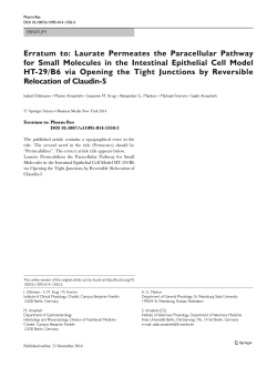 Erratum to: Laurate Permeates the Paracellular Pathway for Small