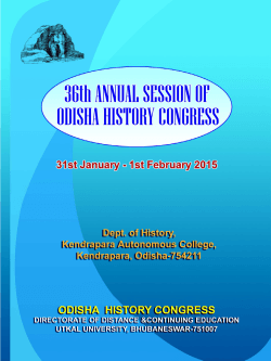 36th Annual Session of Odisha History Congress 31st January