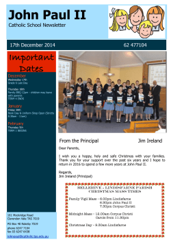 17th December 2014 - John Paul II Catholic School