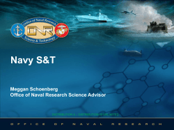 Ms. Meggan Schoenberger, Office of Naval Research