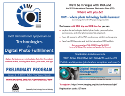Preliminary Program - Society for Imaging Science and Technology