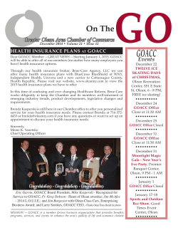 December 2014 Newsletter - Greater Olean Area Chamber of