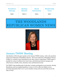 January 2015 - The woodlands republican women