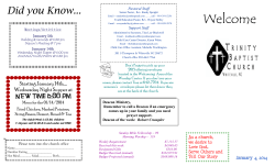 Week of January 4, 2015 - Trinity Baptist Church | Trinity Baptist