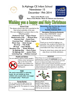 St Alphege CE Infant School Newsletter 15 December 19th 2014