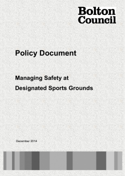 Managing safety at sports grounds policy