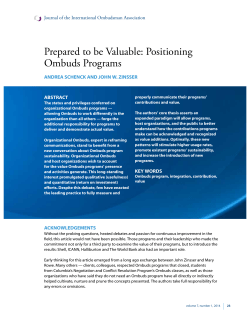 Prepared to be Valuable: Positioning Ombuds Programs
