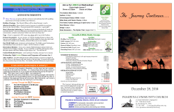 12-28-2014 Bulletin - Pasadena Community Church