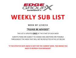 PLEASE BE ADVISED - The EDGE Fitness Clubs