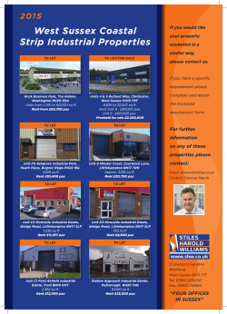 Download new Stiles Harold Williams brochure here