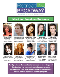 Meet our Speakers Bureau
