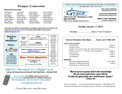 Grace Bulletin - Grace Baptist Church