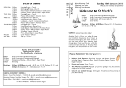 news sheet - St Marks Church Bilton