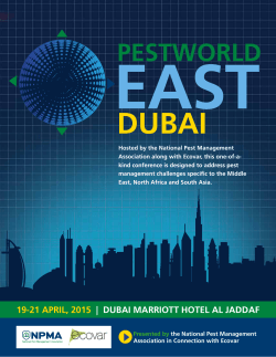 east 19-21 april, 2015 | dubai marriott hotel al jaddaf