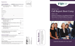 Call Report Boot Camp - Financial Managers Society