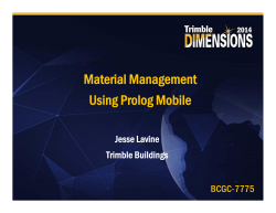Material Management Using Prolog Mobile