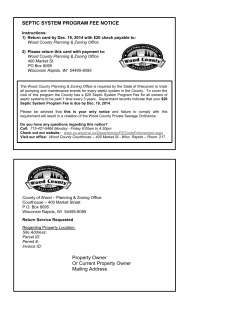 Sample Septic System Program Fee Notice