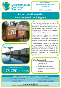 An Introduction to the Contaminated Land Regime Feb 2015
