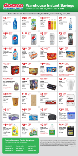 Warehouse Instant Savings Warehouse Instant Savings