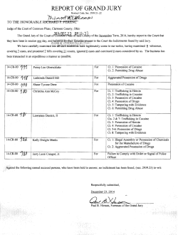 Grand Jury Report-Tuesday, December 23, 2014