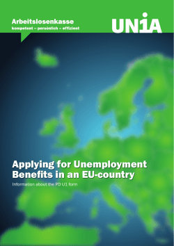 Applying for Unemployment Benefits in an EU-country