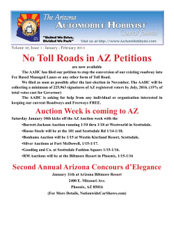 No Toll Roads in AZ Petitions - Arizona Automobile Hobbyist Council