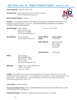 Meet Information - North Dakota Swimming