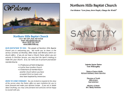 The Church Bulletin - Northern Hills Baptist Church