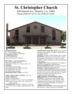Church Bulletin - St. Christopher School