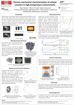 Thermo-mechanical characterization of cellular ceramics in high