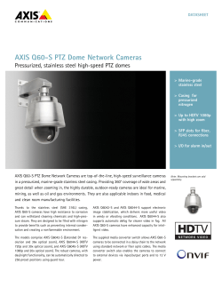 AXIS Q60-S PTZ Dome Network Cameras
