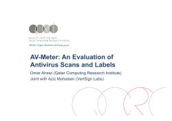AV-Meter: An Evaluation of Antivirus Scans and Labels