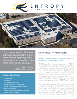 Case Study: JR Motorsports - Entropy Solar Integrators