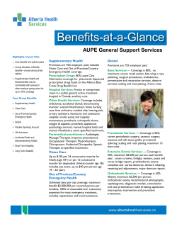 AUPE GSS - Benefits at a Glance